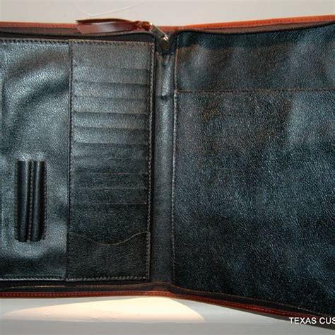 Handmade Leather Portfolio - handmade custom leather portfolio by custom crafts