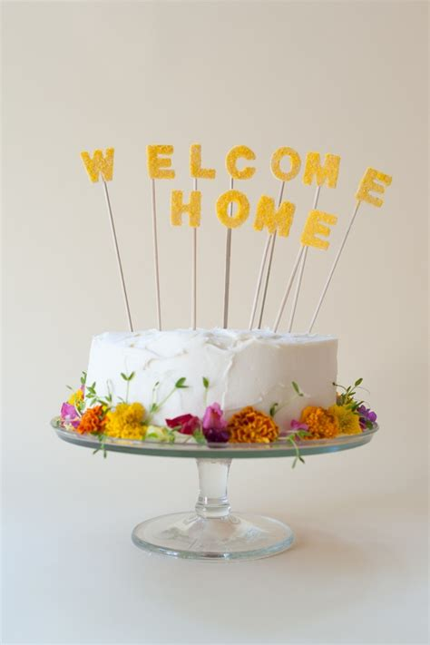 Welcome Home Cake Decorations | welcome home cake topper diy