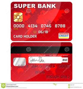 credit debit card front and back stock vector image 68267301