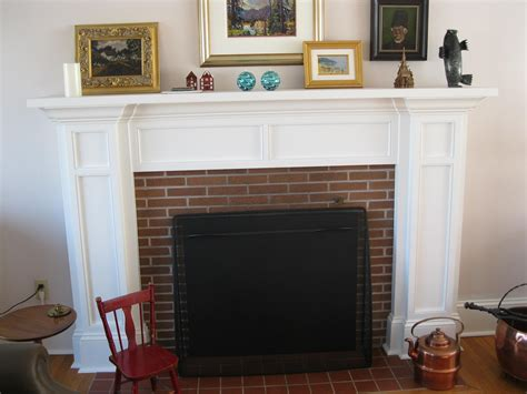 Brick Fireplace Mantle by Fireplace Mantle