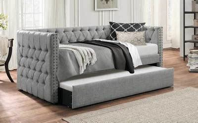 idealbed everest button tufted upholstered daybed