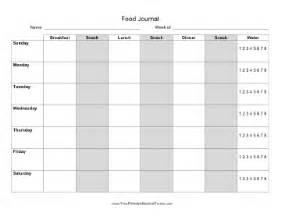 6 food journal templates excel pdf formats