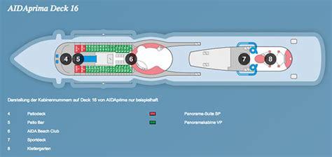 aidaprima deck 8 aidaprima position ᐅ kabinen bewertungen bugcam