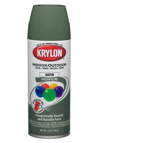 spray paint lowes shop krylon 12 oz italian olive satin spray paint at