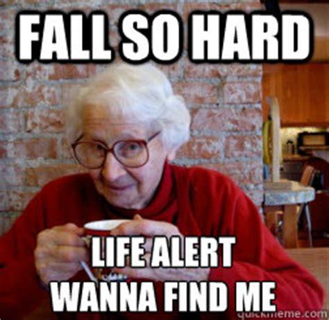 Life Alert Lady Meme - life alert lady falling down memes