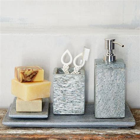 grey slate bath accessories