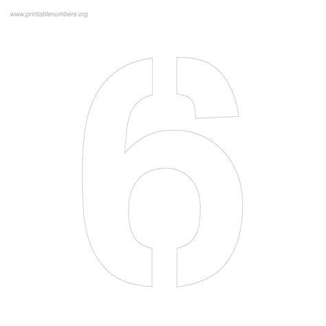 printable number sign stencils 8 inch number templates printable bing images