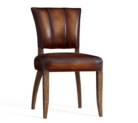 Pottery Barn Leather Dining Chair Elliot Leather Chair Pottery Barn