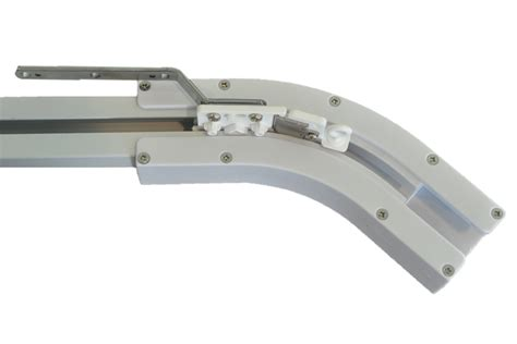 curved curtain track system 135 degree curved track for electric power track rail