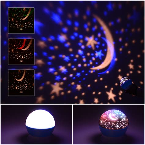 aeeque led star projector night light projection l moon night light usb rotating led star sky