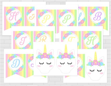 printable unicorn birthday banner printable unicorn happy birthday banner unicorn birthday