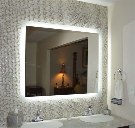led lit bathroom mirrors lighted vanity mirrors wall mounted mam94836 48 quot wide x