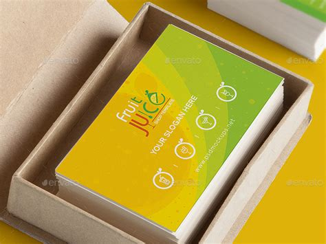 Name Cards For Gifts - fruit juice shop gift voucher and name card template by wutip2 graphicriver