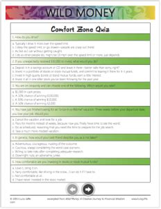 comfort zone quiz templates luna jaffe
