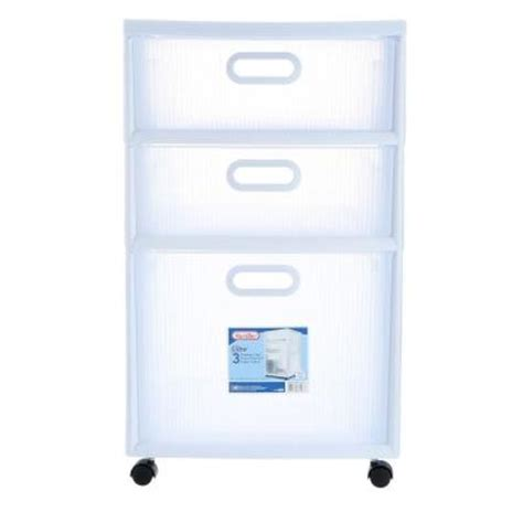 Sterilite Ultra 3 Drawer Cart sterilite 16 in 3 drawer ultra cart 2 pack 36128002 the home depot