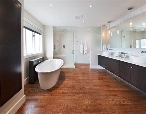 modern clean master ensuite  curbless shower
