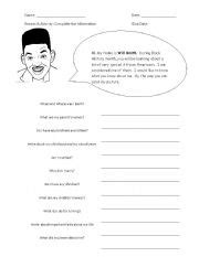 black history worksheets for elementary students rosa