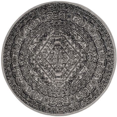 Safavieh Adirondack Silver Black 10 Ft X 10 Ft Round 10 Foot Rugs
