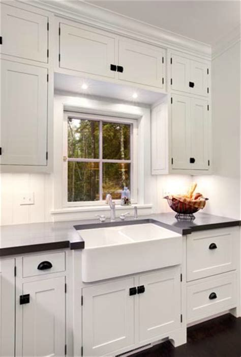White Kitchen Cabinets Hardware Dual Farmhouse Sink Traditional Kitchen Mitch Wise Design