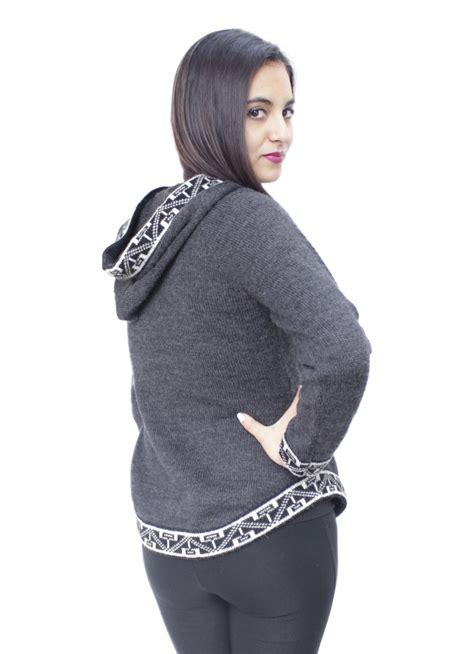 design womens hoodie womens hoodie soft and warm alpaca wool knitted hooded
