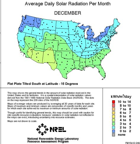 solar radiation map usa us solar insolation maps