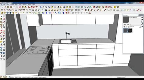google sketchup kitchen design google sketchup tutorial part 03 kitchen modeling sink