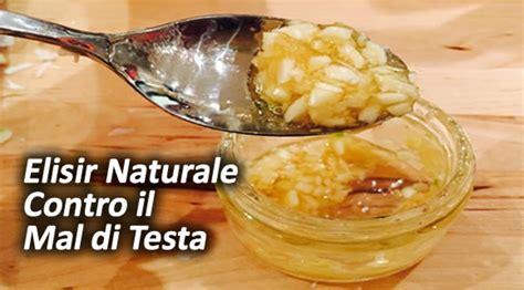 medicinali per il mal di testa elisir a base di aglio e miele contro il mal di testa
