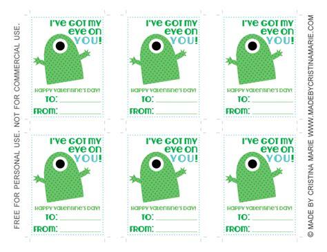 printable monster notecards free printable monster valentines madebycristinamarie com