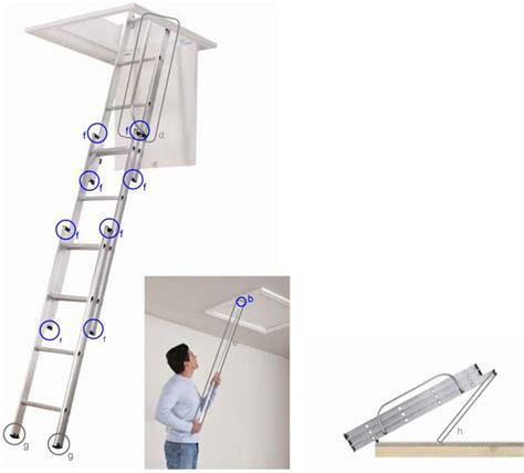 3 Section Loft Ladders Uk by Spares Kit Abru 3 Section Aluminium Loft Ladder Loft