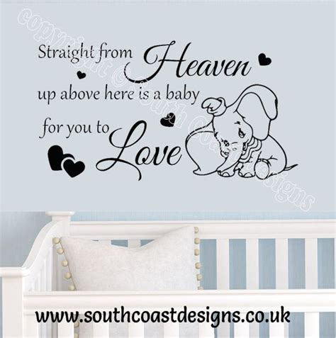 Kitchen Wall Quote Stickers straight from heaven up above here is a baby for you to