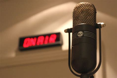 Microphone And On Air Light Abc News Australian Radio Station Lights