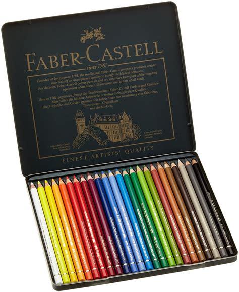 faber castell color pencils faber castell polychromos color pencil tin of 24 lix