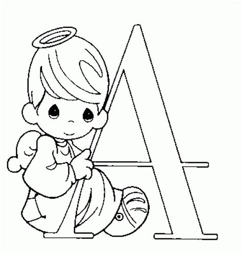 Alphabet Coloring Pages Precious Moments | free printable precious moments coloring pages for kids