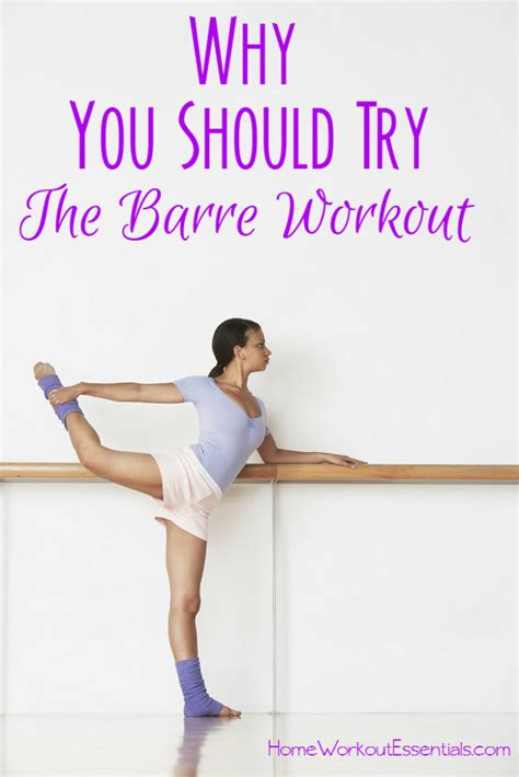 4 reasons why you should try the barre workout home
