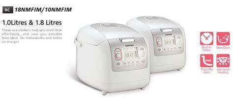 Rice Cooker Digital Toshiba toshiba digital rice cooker rc 18nmfim 1 8l white lazada