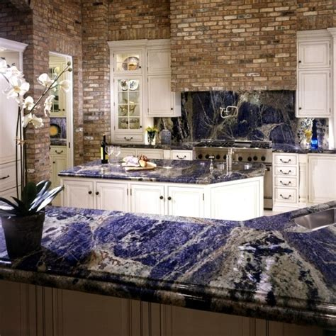 blue marble countertops a great and striking