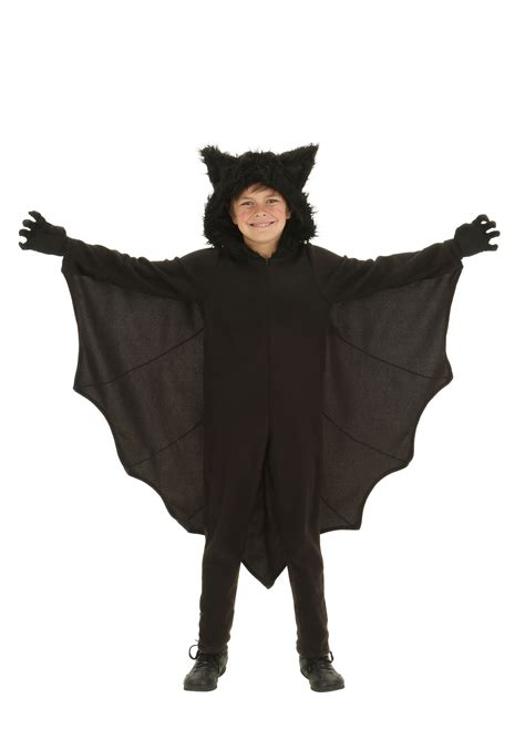 Halloween Home Made Decorations by Child Fleece Bat Costume