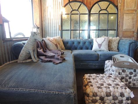 Denim Tufted Sofa Recycle Modern Magazin