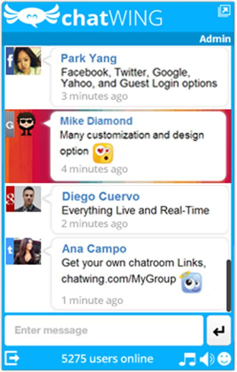 live chat room for website free chat box with premium advantages launched by chatwing in