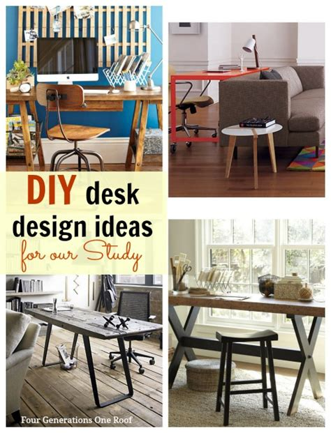 Desk Ideas Diy Diy Desk Ideas For Our Study Makeover Four Generations One Roof