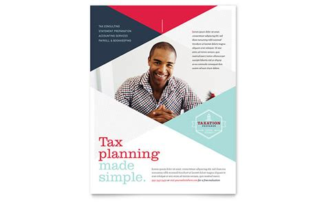 Tax Preparer Flyer Template Design Financial Services Brochure Template Free