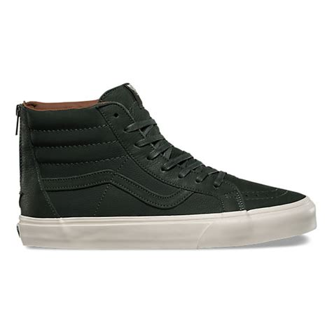 Sepatu Vans Sk8 Hi Premium premium leather sk8 hi reissue zip dx shop shoes at vans