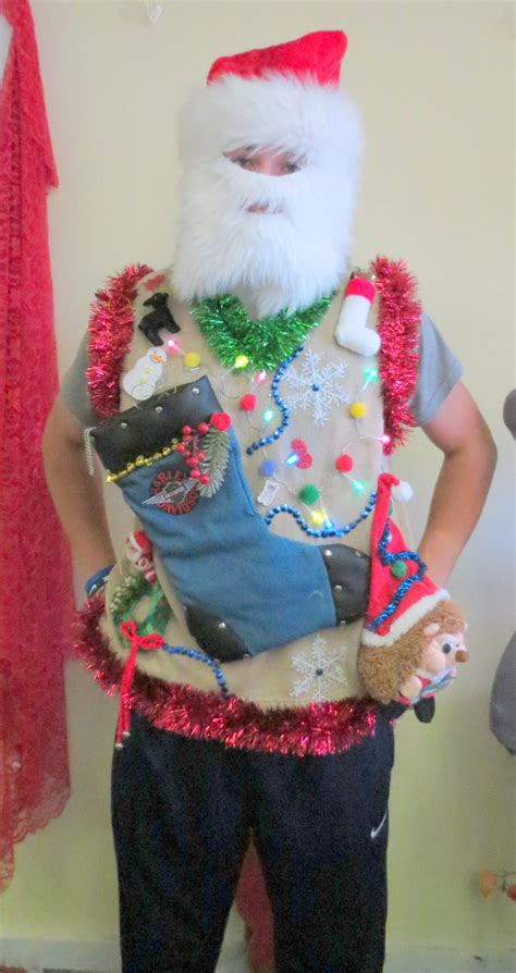 tacky light up sweaters silly hedgehog light up tacky sweater vest mens