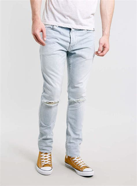 light wash jeans mens light blue ripped jeans for men ye jean