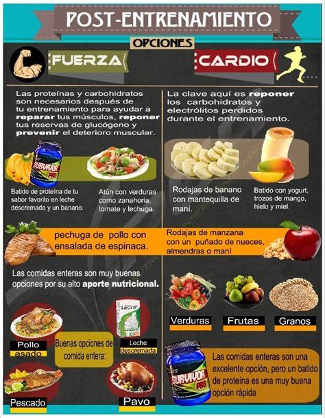 alimentos gimnasio live recomenciones alimentarias post entrenamiento