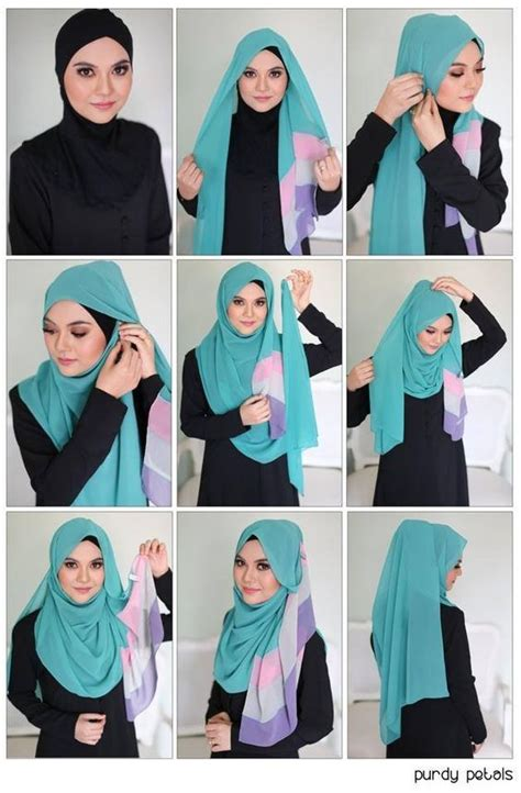 tutorial hijab gliter simple easy breezy beautiful hijab tutorial hijab tutorial