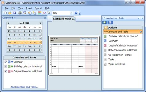 outlook calendar printing assistant templates outlook calendars calendar template 2016