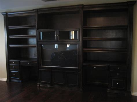 home office media wall unit