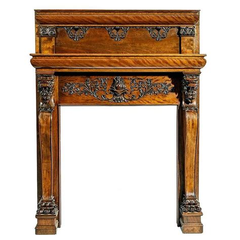a magnificent antique carved fireplace mantel for sale at