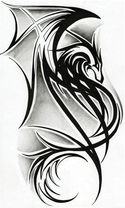 tribal dragon tattoos tribal designs best design